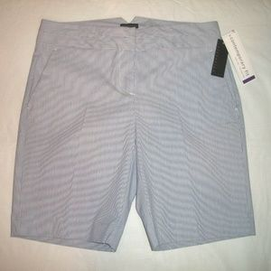 ATTENTION Gray Stripe Contemporary Fit Golf Shorts